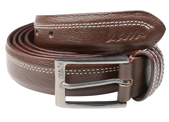 Leather Trouser Belt in Brown by Kam