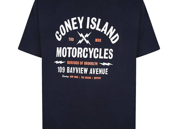 Coney Island Tee in Navy by Espionage