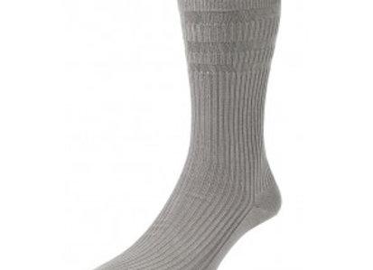 Softop Cotton Rich Socks by HJ (Slate Blue)