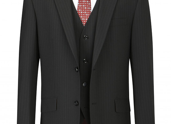 Skopes Darwin Suit Jacket – Black Pinstripe