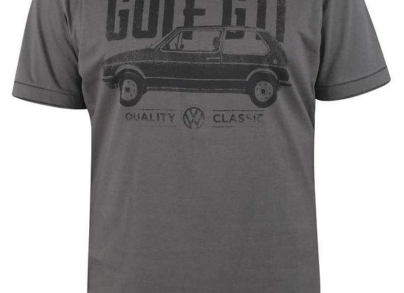 VW Golf branded Tee in Grey by Duke