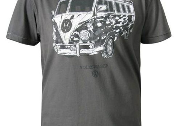 Official Licensed 'Type Two' VW Campervan T-Shirt by D555