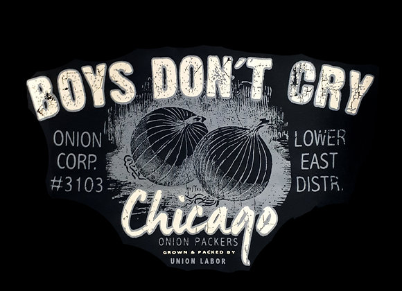 'Boys don't cry' Tee in Black by Metaphor
