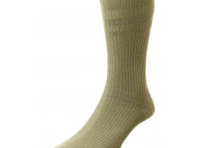 Softop Wool Rich Socks By HJ (Oatmeal)