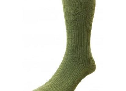 Softop Cotton Rich Socks by HJ (Olive)