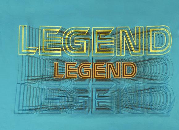 Legend Tee in Teal by Metaphor