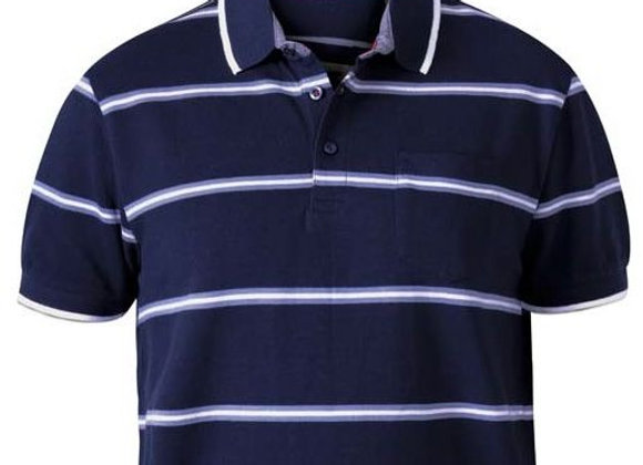 Montego Polo by D555 in Navy Stripes by D555