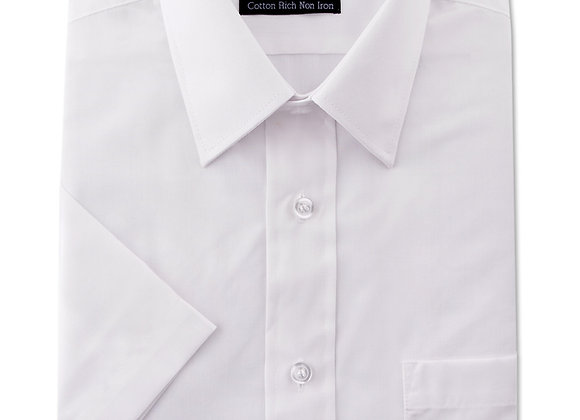 White Short-Sleeved Shirt by Double Two