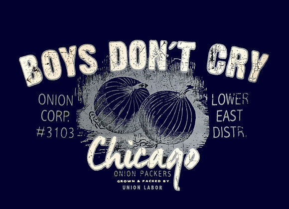 copy of 'Boys don't cry' Tee in Navy by Metaphor