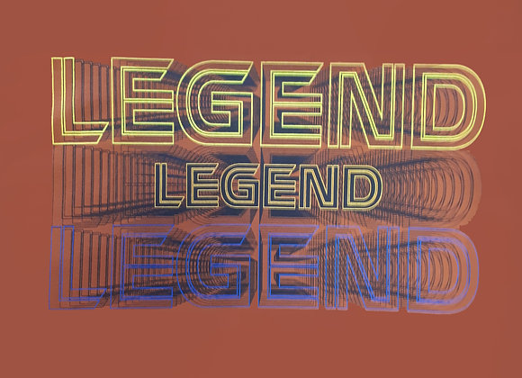 Legend Tee in Orange by Metaphor