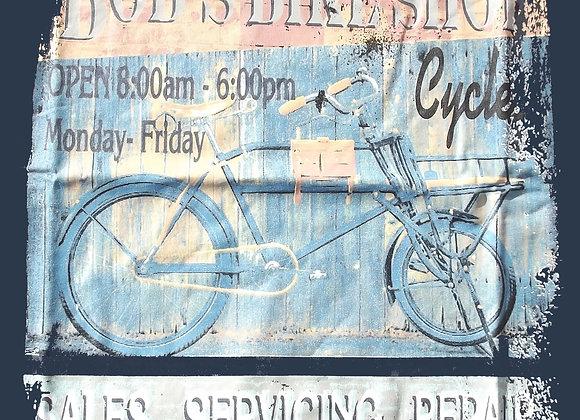 Bob's Bikes Tee in Blue by Metaphor
