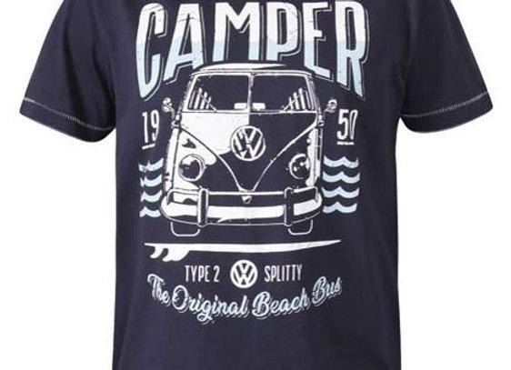 Official Licensed VW Campervan T-Shirt by D555