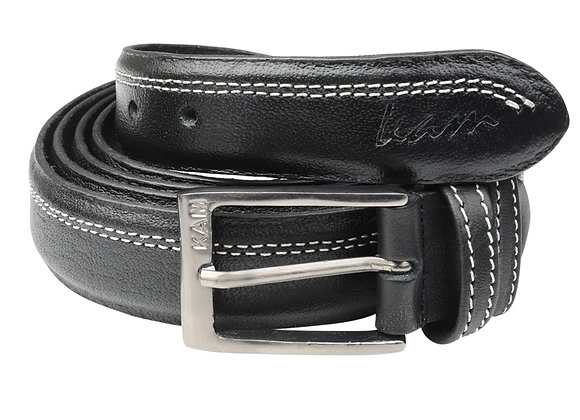 Leather Trouser Belt in Black by Kam