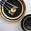 Thumbnail: Black Gold Bowl Ceramic Western Plate