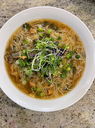 Bok Choy Glass Noodle Soup