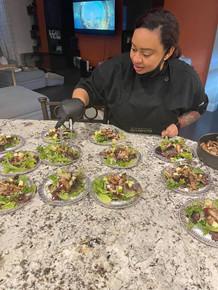 Chef Derricka Plating Dishes
