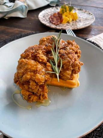 Rosemary Fried Chicken n Waffles