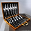 Thumbnail: 24 Piece Stainless Steel Silver Cutlery Gift Box Set