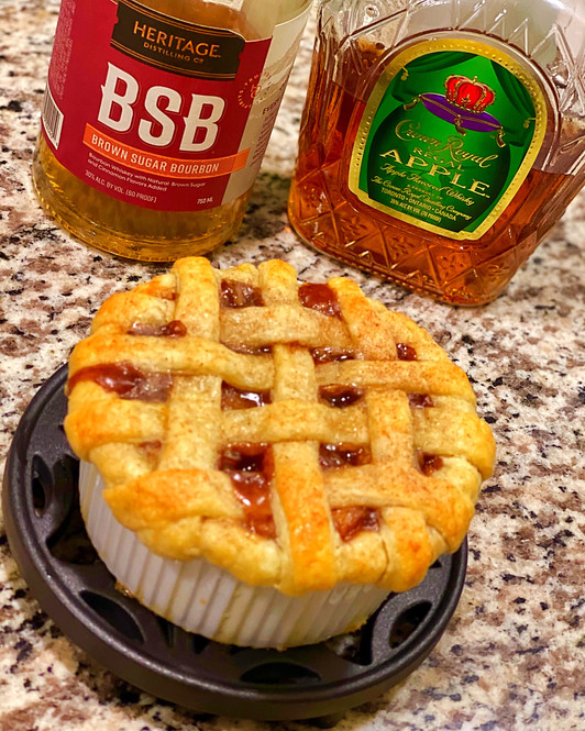 Brown Sugar Bourbon Crown Apple Pie