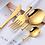 Thumbnail: Colorful Stainless Steel Flatware Cutlery Set