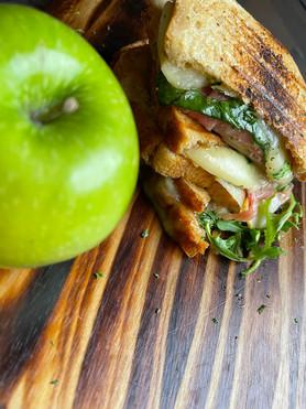Granny Smith Apple, Brie & Proscuitto Panini