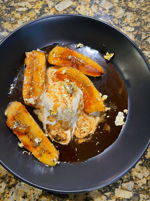 Gold Dusted Bananas Foster