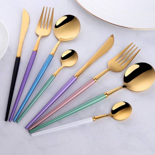 Colorful Stainless Steel Flatware Cutlery Set