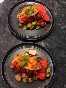 Lobster Tail over Roasted Veggies