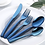Thumbnail: 20pcs Stainless Steel Luxury Blue Cutlery Set