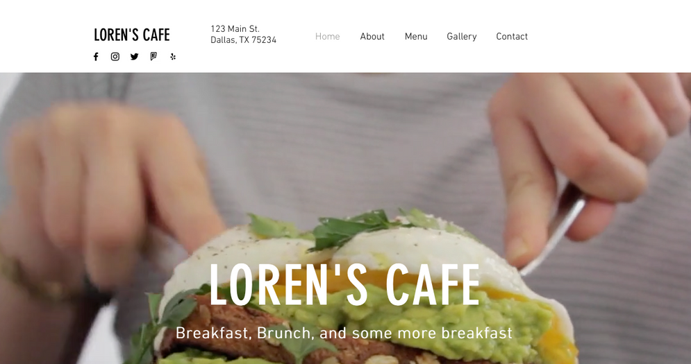 Loren's Cafe (Mock Up)