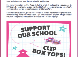 Fundraiser: Box Tops