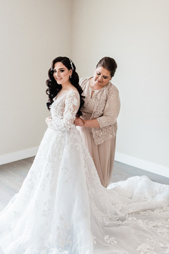 Beautiful Bride with Mom