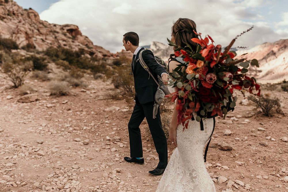 Bride and Groom at Red Rock