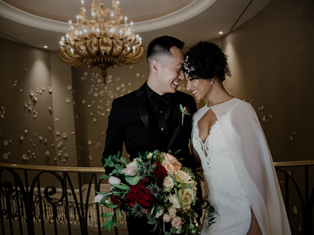 Moody, Elegant, Spring Wedding | Featured on Wedding Chicks!