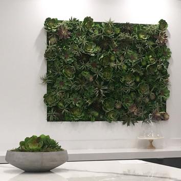 Custom faux succulent wall