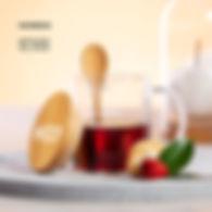 Chávena de Vidro e Bamboo