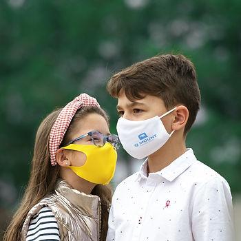 mascara protecção social criança personalizada solo em foco brindes  marketing