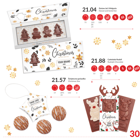 Natal - Sets de chocolate