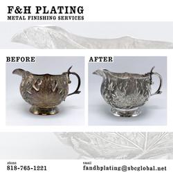 Silver cream bowl
