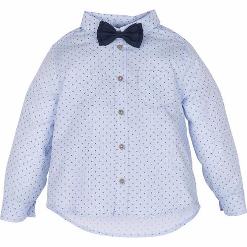 Hemd mit Fliege - Blau