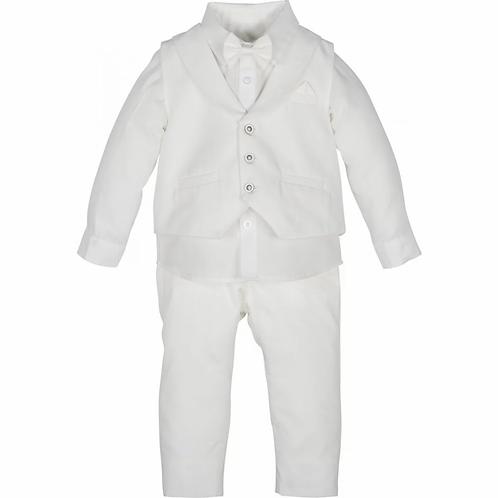 Taufanzug mit Fliege - Weiß