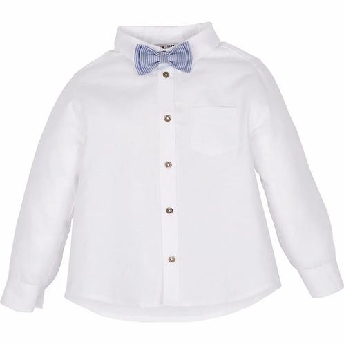 Hemd mit Fliege - Weiß