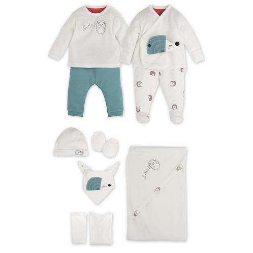10 Teilig- Neugeborene Set - Igel