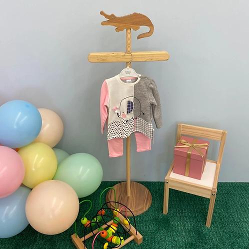 Pyjama Set - rosa Elefant