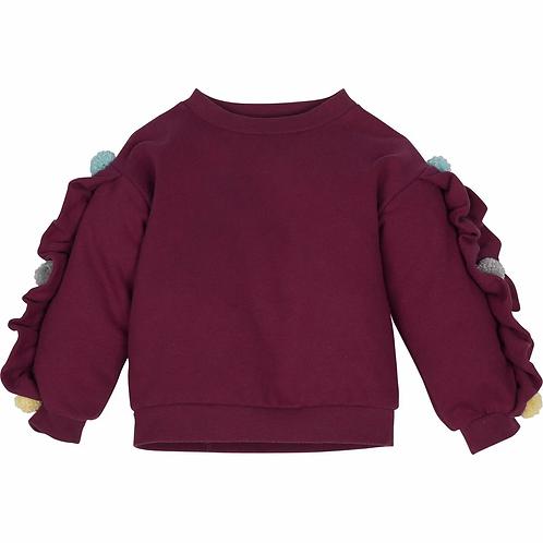 Sweatshirt - Bordeauxrot- Mädchen