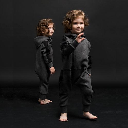Schwarz - Scuba Kinderoverall