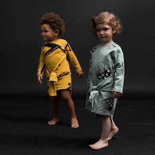 Vorne Gebundenes Kinderkleid