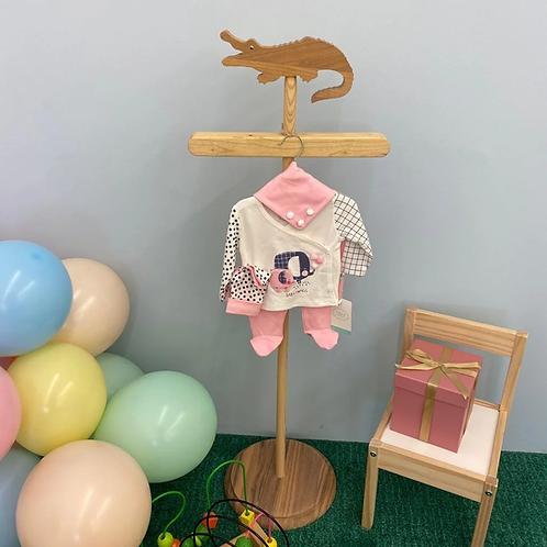 Baby Set rosa Elefant