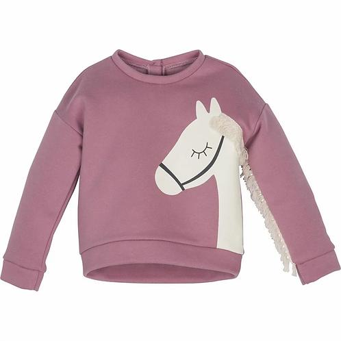 Sweatshirt - Pferd- Mädchen
