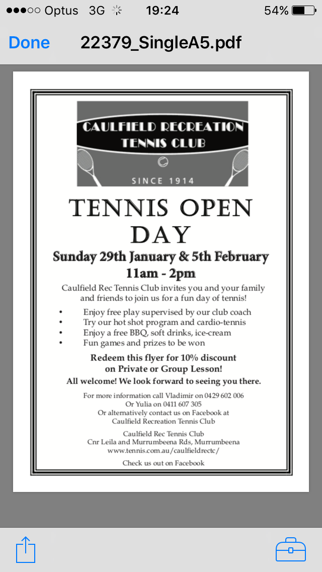 Club Open Days